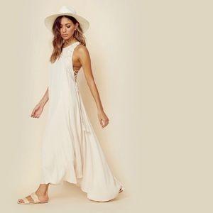 ASTR white boho maxi dress
